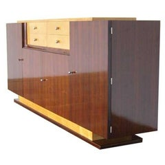 A Fine Art Deco Rosewood and Sycamore Sideboard by De Coene