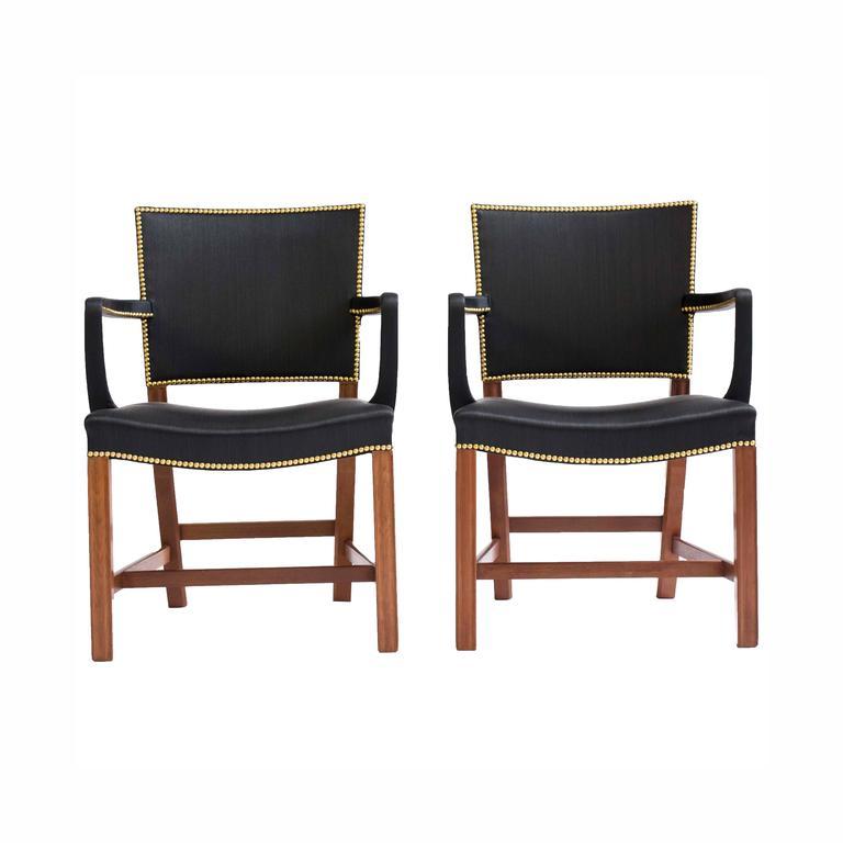 Pair of Rare Kaare Klint Armchairs in Horsehair