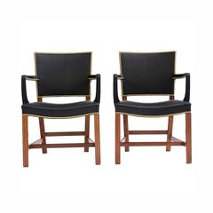 Pair of Rare Kaare Klint Armchairs in Horsehair