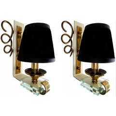 Pair of 1950 French Sconces