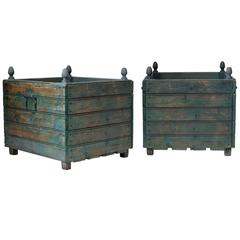 "Pair of Large ""Orangerie"" Planters, France, circa 1920s"