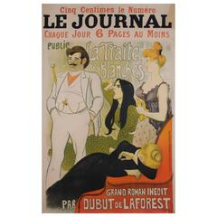 Original French Turn of the Century Poster by Theophile Steinlen, 1890s