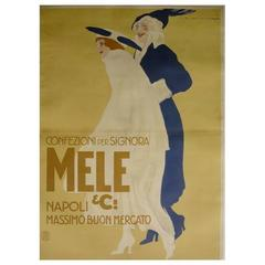 Large Italian Fashion Poster by Marcello Dudovich, Early 20th Century