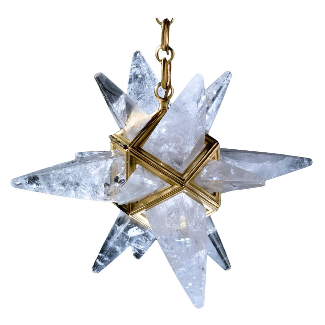 Rock Crystal Star II Chandelier by Alexandre Vossion