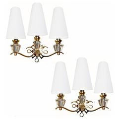Sconces in the Style of Jules Leleu