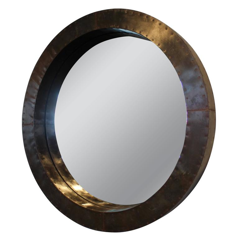 Bronze industrial metal decorative wall mirror for sale at for Fancy wall mirrors for sale