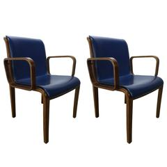Beautiful Pair Of Bill Stephens For Knoll Dining Chairs