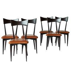 Set of Six Dining Chairs by Ico Parisi
