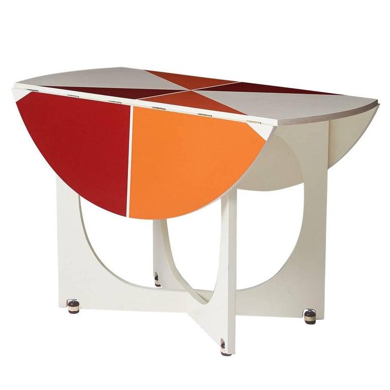 "Gio Ponti Drop-Leaf ""Apta"" Table For Sale"