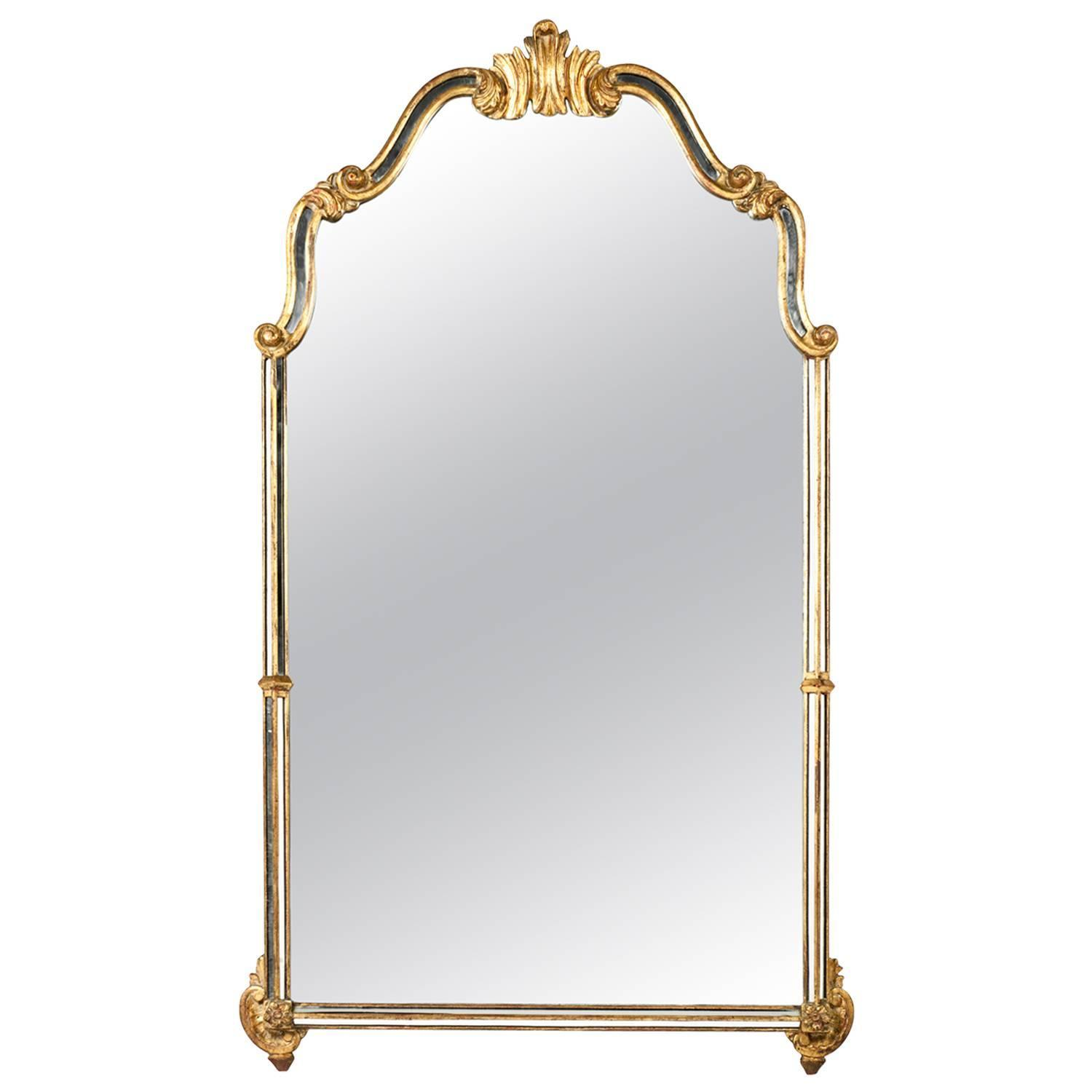 Vintage hanging wall mirror at 1stdibs for Mirror hangers