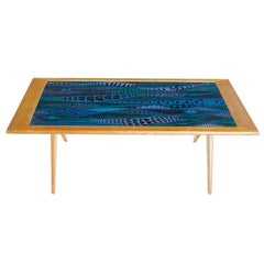 Stig Lindberg and David Rosen for Nordiska Kompaniet Enamel Coffee Table, 1955