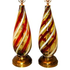 Pair of Mid-Century Murano Table Lamps