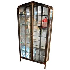 Large Iron and Glass Vitrine