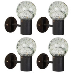 Two Pairs of Seguso Glass Sconces by Gino Sarfatti for Arteluce