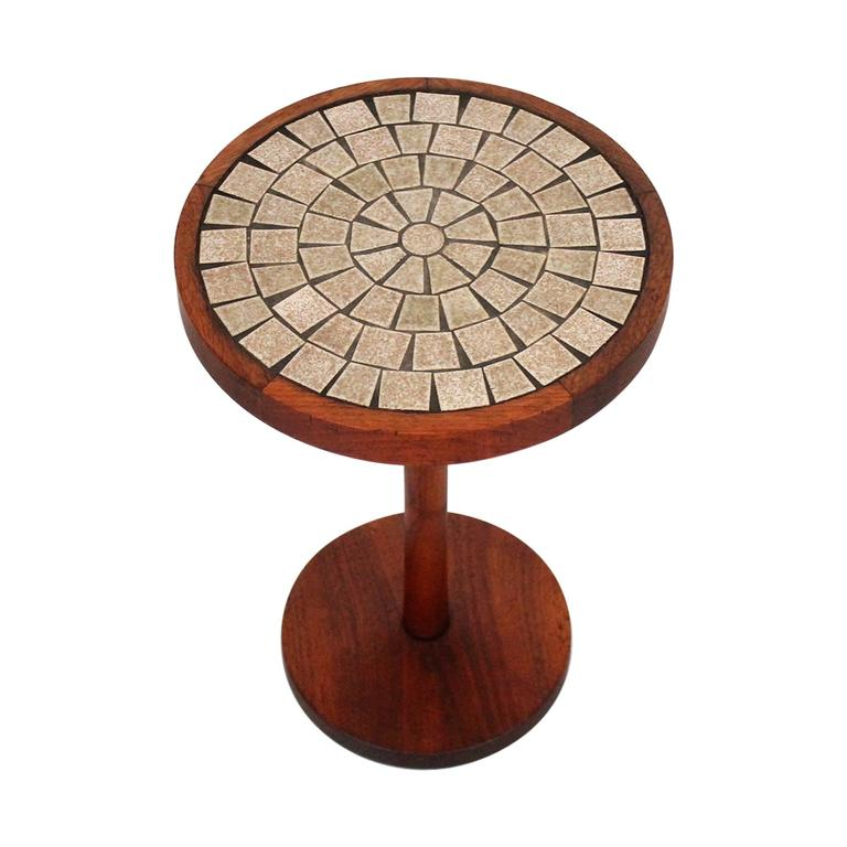 Martz For Marshall Studios Ceramic And Walnut Table At 1stdibs