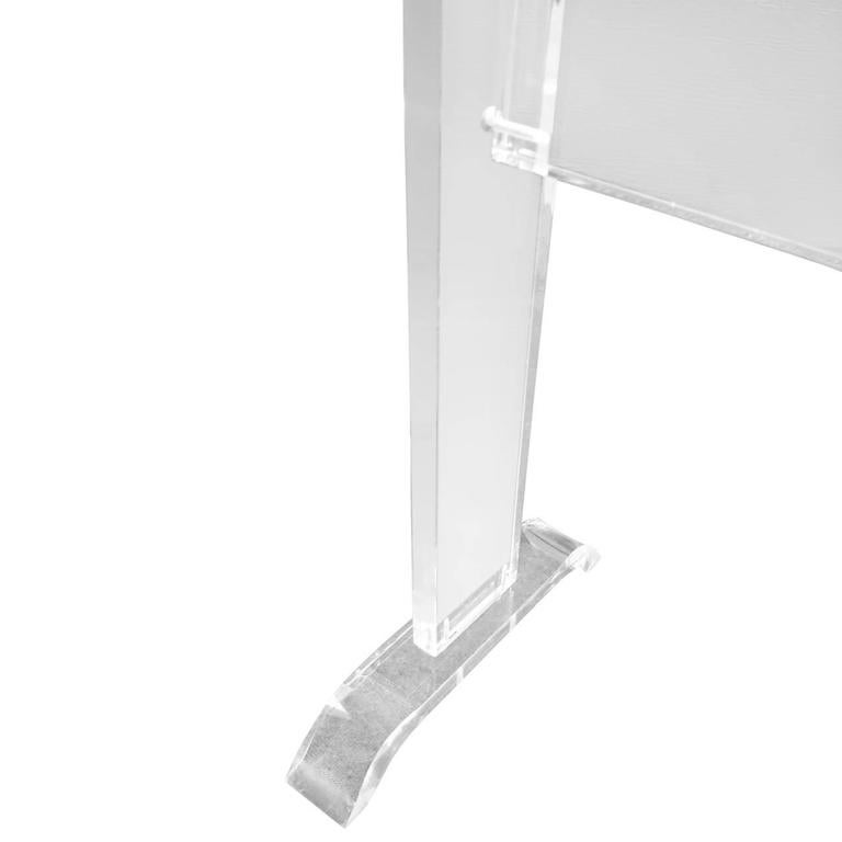 Late 20th Century Mid-Century Lucite Towel Rack For Sale