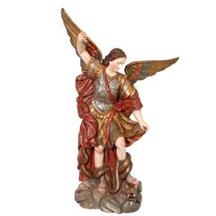 Saint Michael Slaying the Dragon Statue