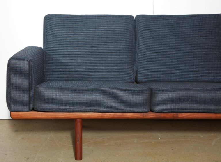 Hans Wegner for GETAMA GE-236 Solid African Teak Three-Seat Sofa, circa 1955 For Sale 2