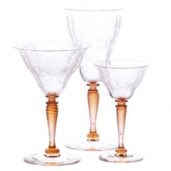 Steuben One-of-a-Kind Engraved Stemware Service