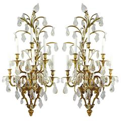 Baccarat Attributed Wall Sconces