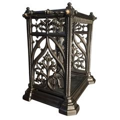 Victorian 19th century Umbrella and Stick Stand in the Gothic style.