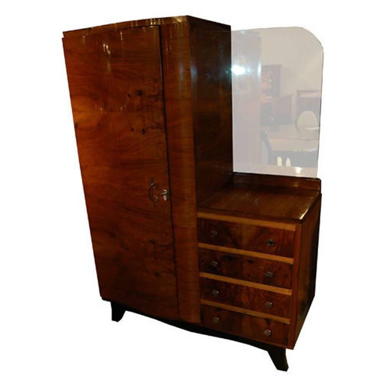 french art deco armoire for sale at 1stdibs. Black Bedroom Furniture Sets. Home Design Ideas