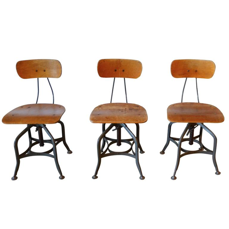 Toledo Swivel Chairs Or Adjustable Stools By Uhl Steel For