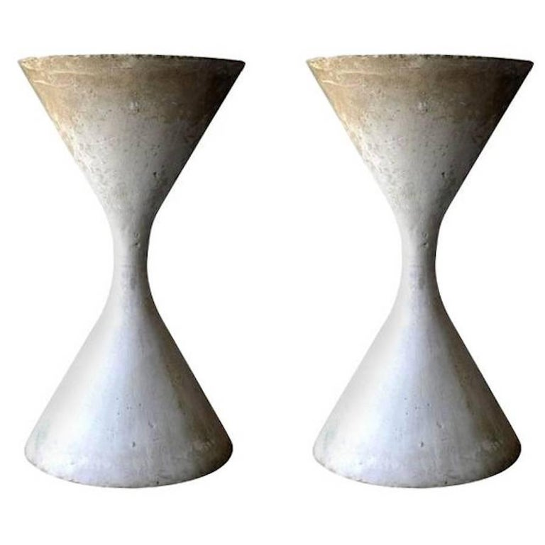 Massive Willy Guhl Hourglass Planters