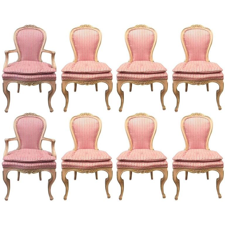 Set of Eight Louis XVI Style Painted Dining Chairs 1Set of Eight Louis XVI Style Painted Dining Chairs For Sale at 1stdibs. Louis Xvi Style Furniture For Sale. Home Design Ideas