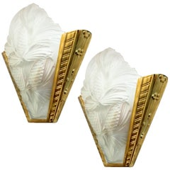 Pair of French Art Deco Pine Cone Wall Sconces