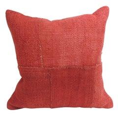 Vintage Bright Color Kilim Decorative Pillow with Modern Patchwork Design