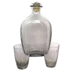 Danish Modern Schnapps Decanter and Glasses