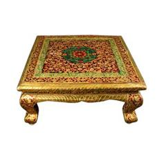 Hammered Brass Covered Table, circa 1940s
