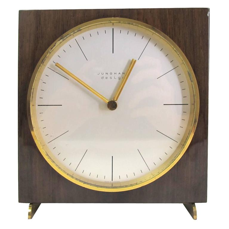 vintage table clock by max bill for junghans ag 1950s at. Black Bedroom Furniture Sets. Home Design Ideas