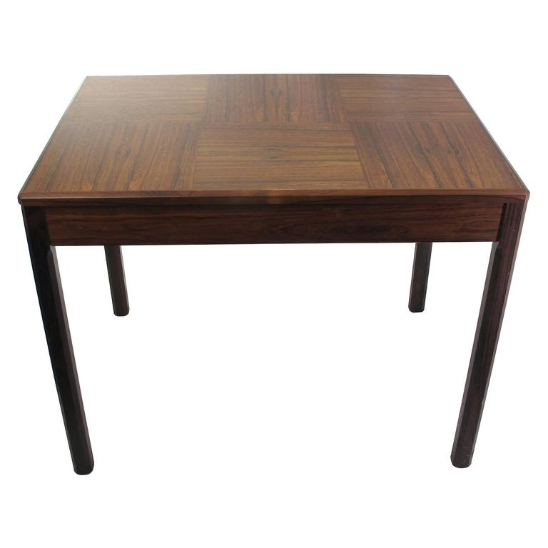 Set Of 2 Square Design Nesting Coffee Tables Made Of Black: Swedish Rosewood Coffee Table By Yngvar Sandström For AB
