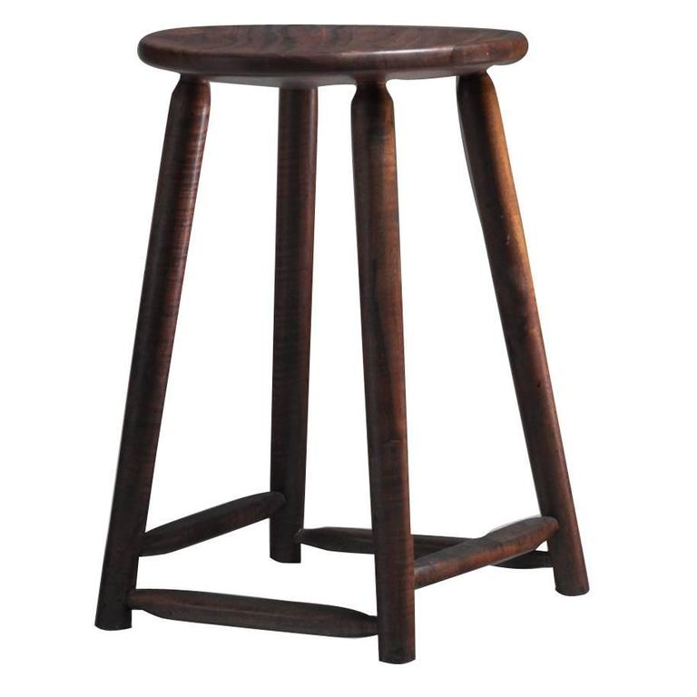 Arthur Espenet Walnut Studio Craft Stool American 1961