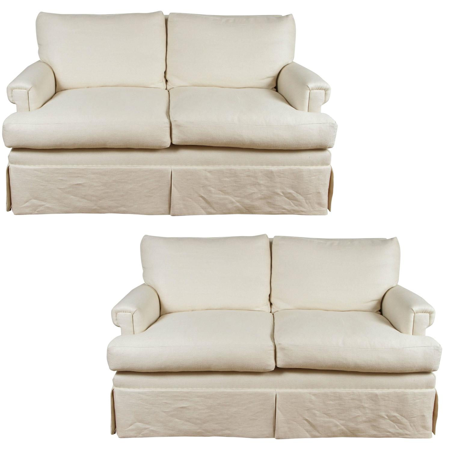 Ivory Loveseats For Sale At 1stdibs