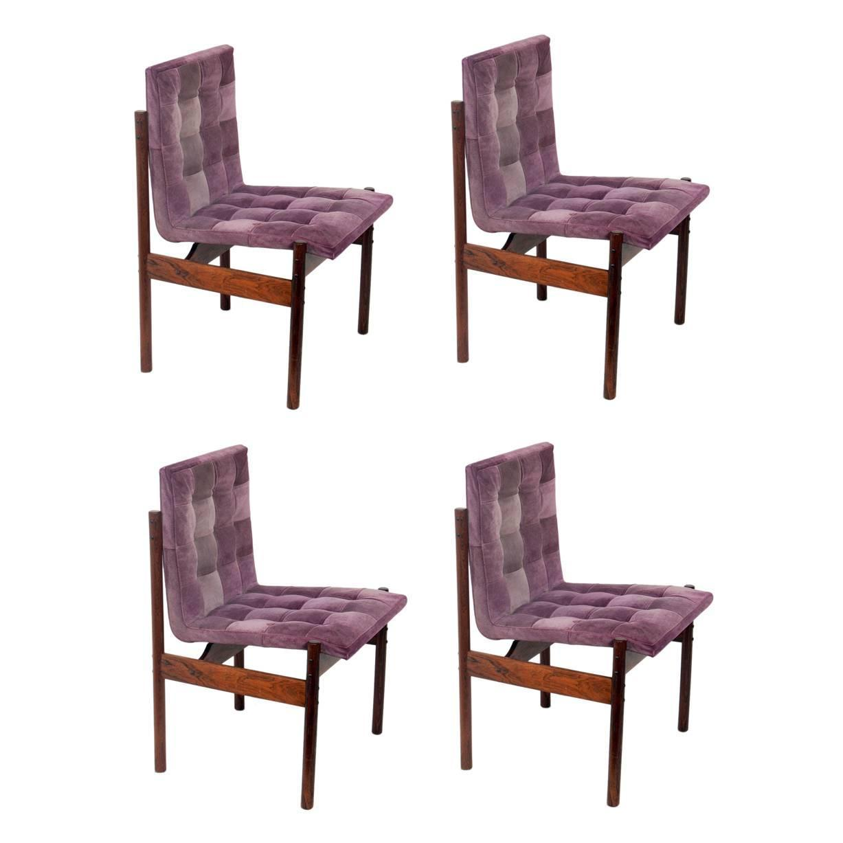 set of four rosewood dining chairs brazil circa 1960s for sale at