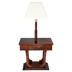 Art Deco, Biedermeier, Floor Lamp in Mahogany