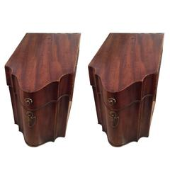 Pair of George III Slant Top Cutlery Boxes