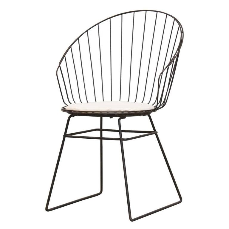 Cees Braakman And A Dekker Wire High Back Vanity Stool For