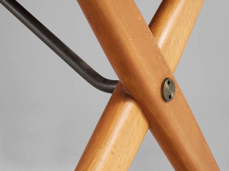 Hans J Wegner AT 303 Cross Leg Table In Teak For Sale At