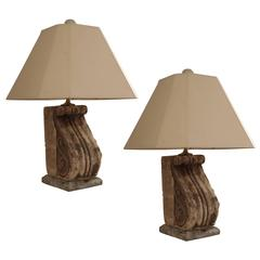 French Stone Lamps