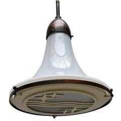 1930s Philips Bauhaus Opaline Glass Pendent Lamps