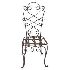 Set of Eight René Prou Iron Chairs, France, 1940