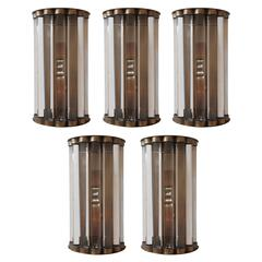 Italian Short Crystal Bars Sconces