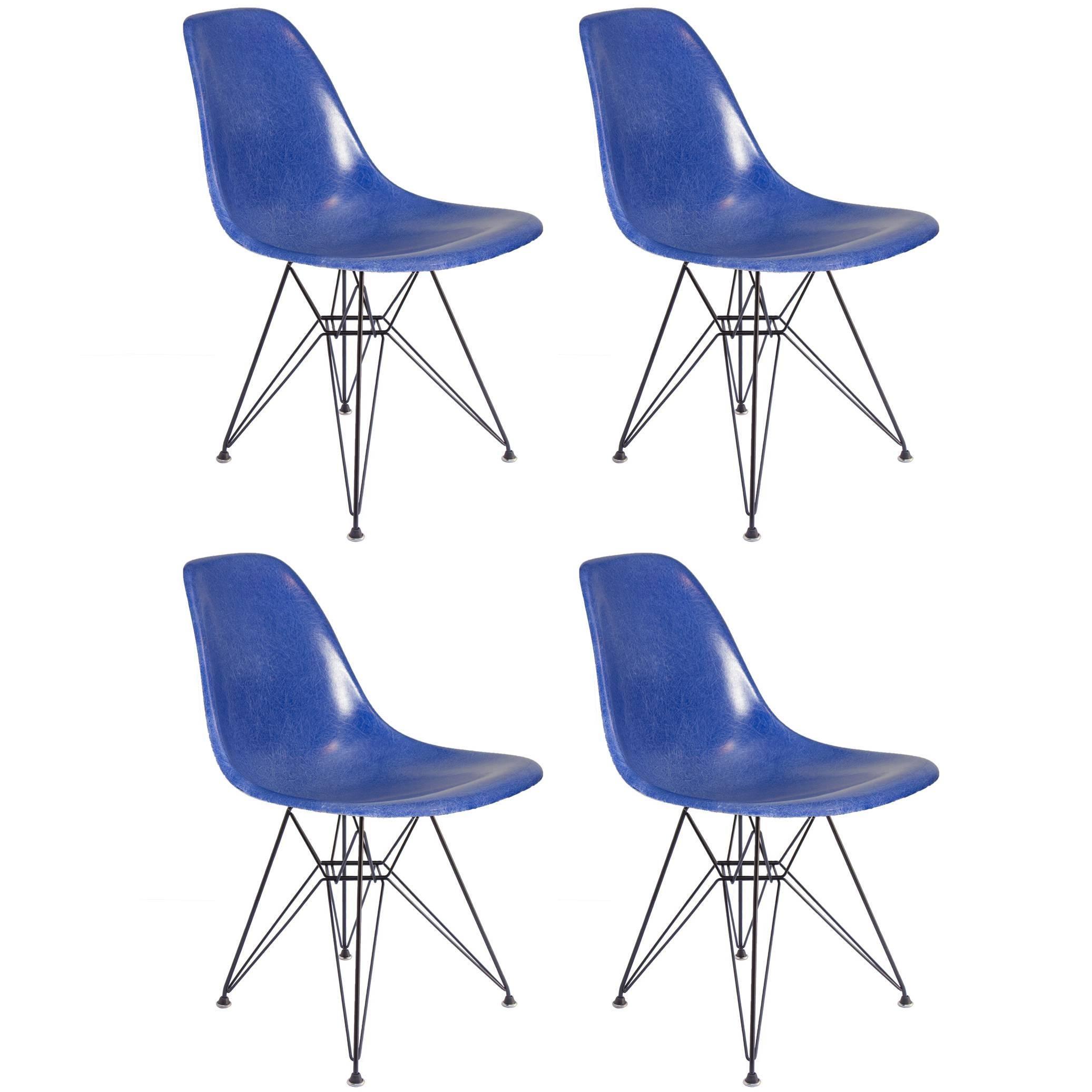 Eames for Herman Miller Ultramarine Blue Fiberglass Shell Chair