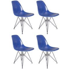 Eames for Herman Miller Ultramarine Blue Fiberglass Shell Chair