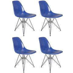Vintage Blue Eames Herman Miller Chairs