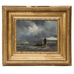 Oil on Canvas by Johnson, English Marinist Painter of the 18th Century